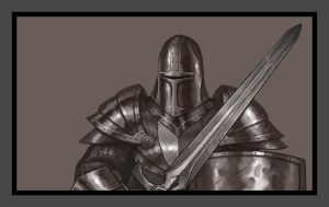 Plate Armour Practice - Speed Painting by Wolfgan