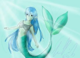 Mermaid -first try- by TheReza13