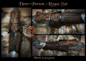 Fantasy deer-person : Rogue set by Deakath