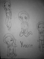 Yvonne sketches by Claddle
