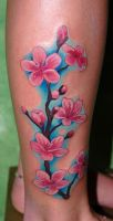 Cherry Blossom Tattoo by norberthlsz