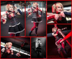 Harley Quinn Batman Arkham Knight Collage by AmmieChan