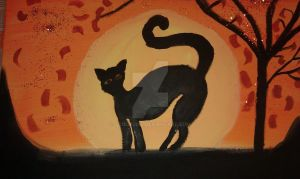 Silhouette Painting by ScoopGirl