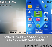 Abstract theme for Nokia X2-00 and other 240x320 by cyogesh56