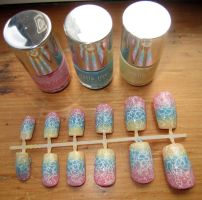 Pastel Graffiti Nails by soyoubeauty