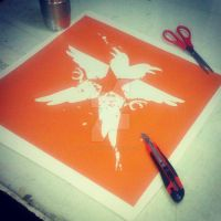 Infamous Second Son Stencil by RAVE-OH-LUTION