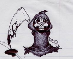 Chibi Death by cannibalgnome