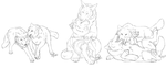 Wolf character sketches by CunningFox
