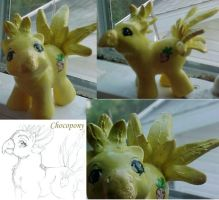 Baby Chocobo custom pony by ShadesofRain