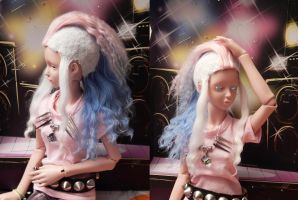 Finished Mohawk Wig by BeanSproutMomo