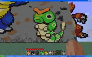 Caterpie On Minecraft by Miccopicco