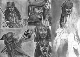 Jack Sparrow Compilation WIP 20 by diablocyrus