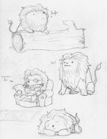 Tiny hamster potato lion by fourlegs