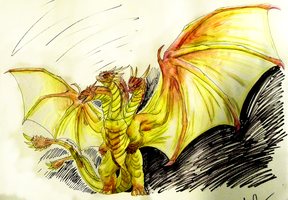 Legendary Series: King Ghidorah by vcubestudios