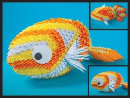 Origami goldfish by prosaix