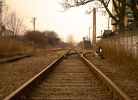 Railroads near a factory by ThePoet-D80