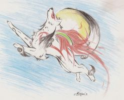 Okami- Paint the Sun by FayeleneFyre