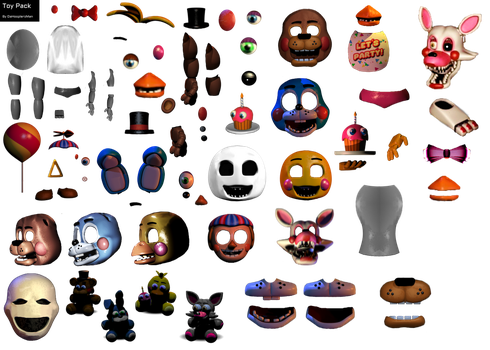 FNaF Toy Animatronic Resource Pack by DaHooplerzMan