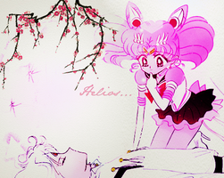Manga Coloring: Sailor Moon: Helios and Chibiusa by bakaprincess85