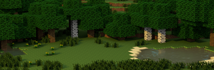 Minecraft Triple Screen Wallpaper by Dimitri2012