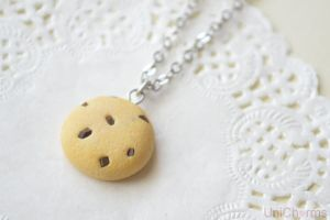 Chocolate Chip Cookie Necklace by Unicharms