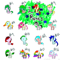 Pony Adoptable .:2 POINTS EACH:. by xXTonyKunXx