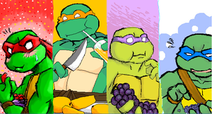 Fruity Turtles by Fuwa2-Kyara
