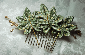 Spearment Leaf Kanzashi. by hanatsukuri