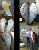 Stone Angel Wings Progress by SabrePanther