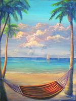 hammock in paradise by wolfey6635