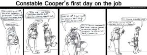 Constable Cooper's first day on the job by brensey