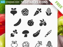 FREE Vegetables icons - free download icon set by 123creative