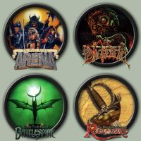 The Elder Scrolls 'Old School' Icons by kodiak-caine