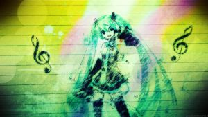 Hatsune Miku HD stylish Wallpaper HD EXCLUSIVE by dizoEX2