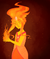 Flame Princess by fluturra