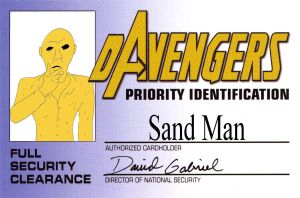 ID Card for dAvenger Sandman by unclefreak