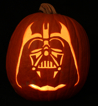 Darth Vader Pumpkin Light Version by johwee