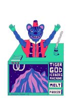 TIGER GOD ICEBERG MACHINE by laresistance