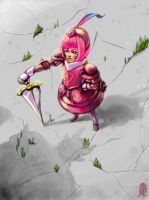 Pink Knight by Lelia