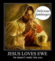 Jesus Loves ewe. by Deviator77