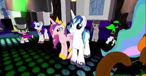 Cadence and Shining Armor pre-wedding party 4 by K4nK4n