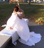 White Gown Terra 42 by Falln-Stock