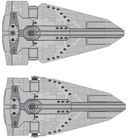 Interceptor and Intimidator Class star Destroyers by wbyrd
