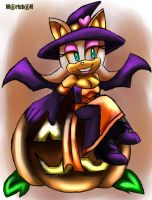 Halloween 2014 Rouge the Witch by 7marichan7