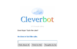 Cleverbot says about Roger by HuskyRockstar