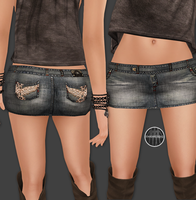 AngelRED Couture - Mesh Crush Mini Skirt by BloodAppleKiss