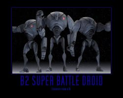Star Wars The Clone Wars B2 Super Battle Droid by Onikage108
