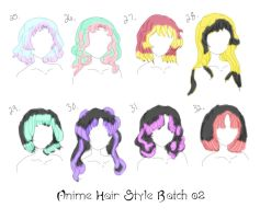 8 Anime Hair Styles by InLoveWithYaoi