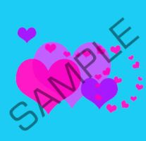 PurplePink Hearts Pin Sample by PineappleMarket