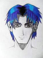 Manga Character-Male-Blue Hair by Medicated-Kitty
